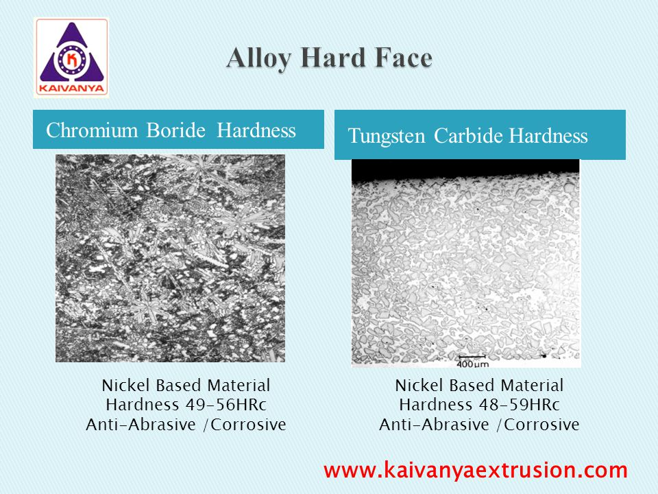 Alloy Hard Face Chromium Boride Hardness Tungsten Carbide Hardness