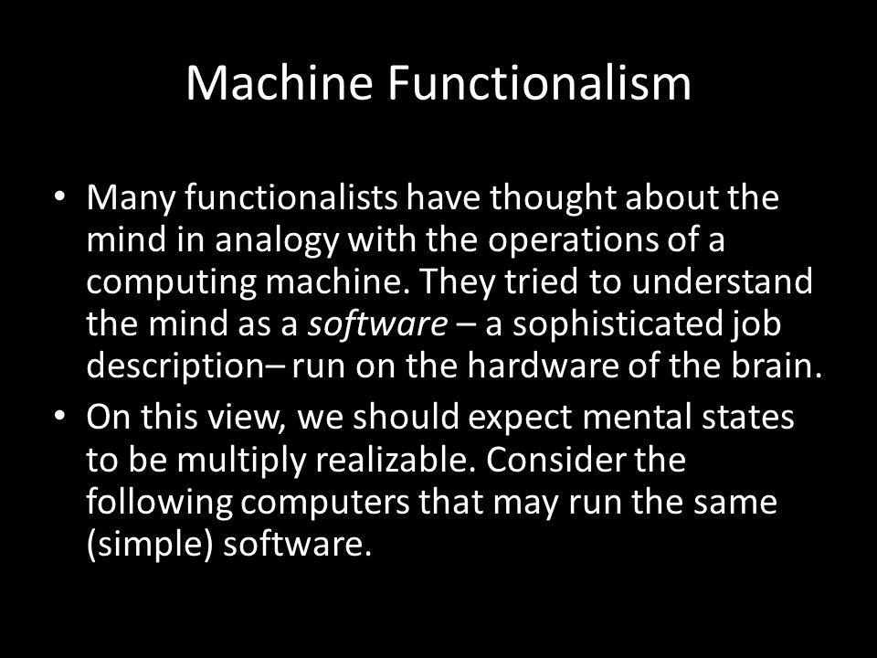 Machine Functionalism