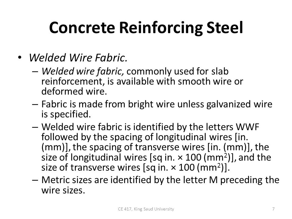 Concrete Reinforcing Steel