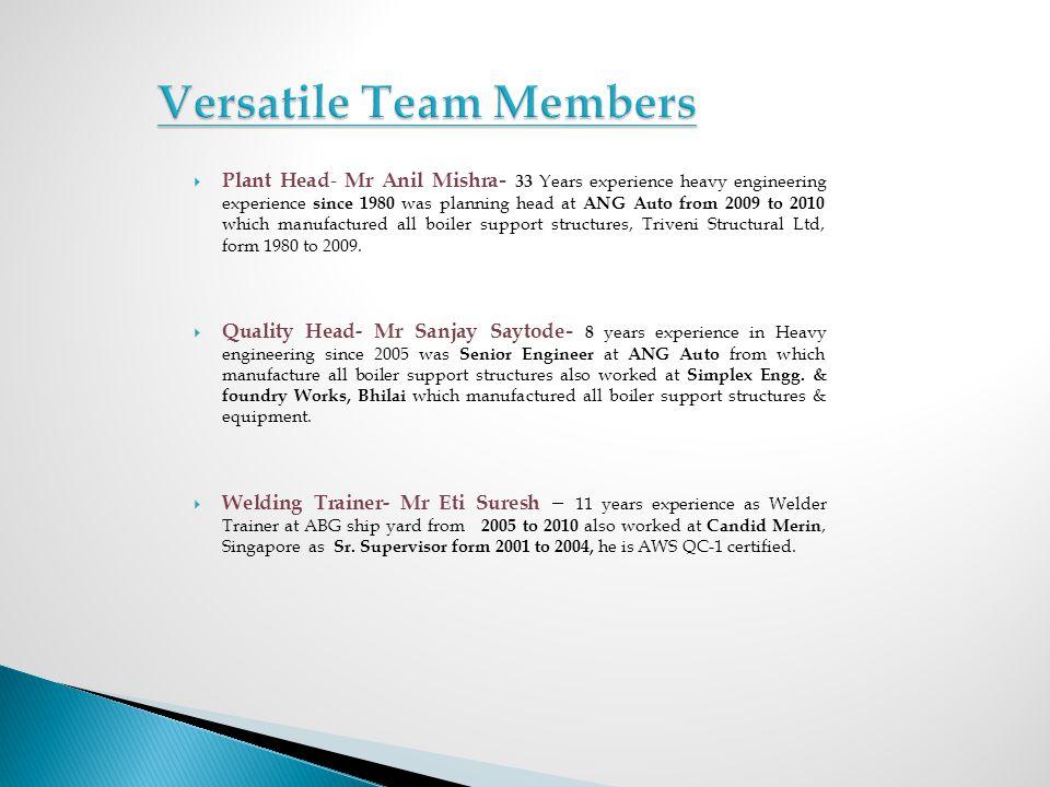 Versatile Team Members