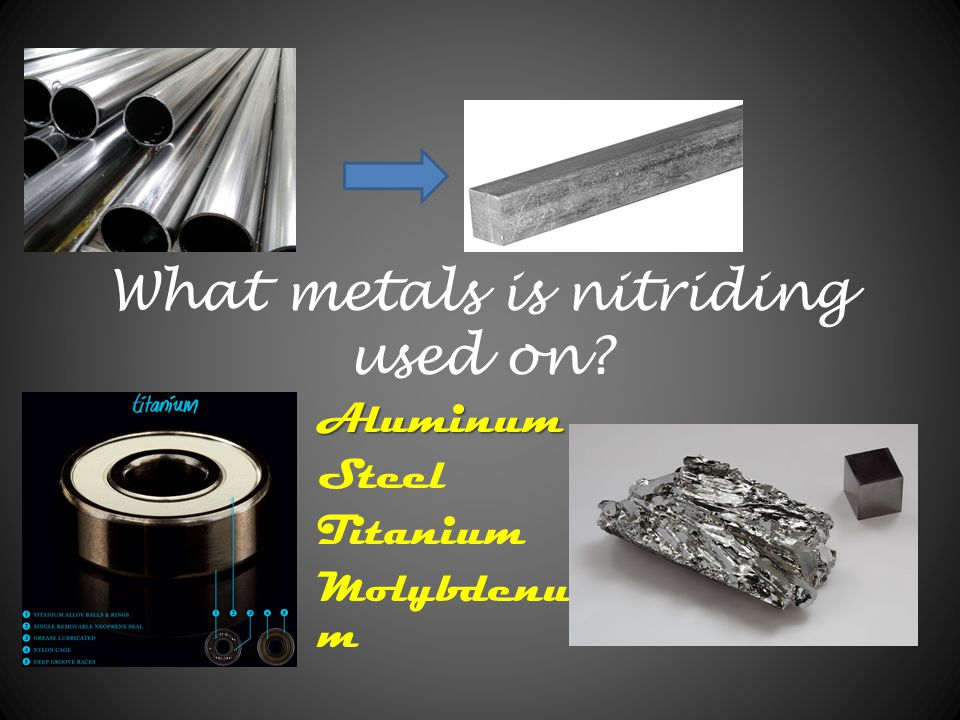 What metals is nitriding used on