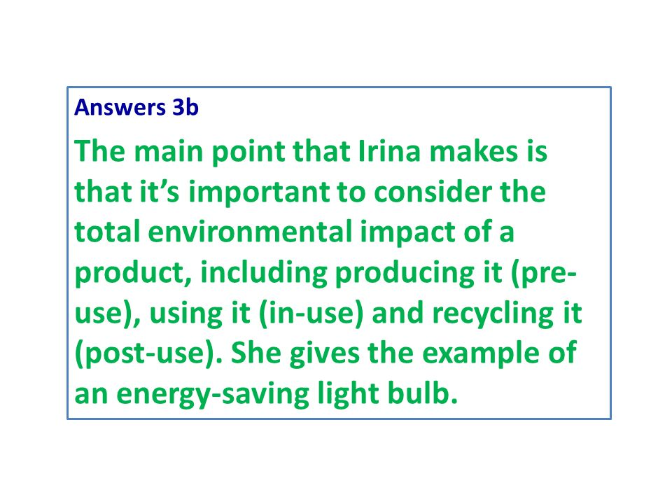 Answers 3b