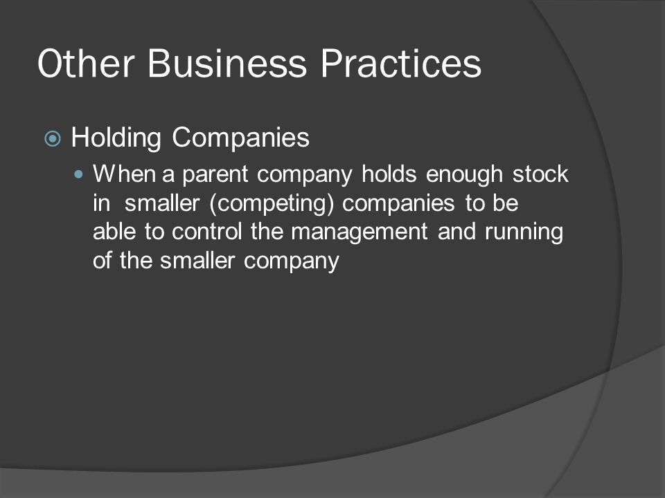 Other Business Practices