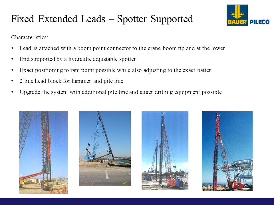Fixed Extended Leads – Spotter Supported