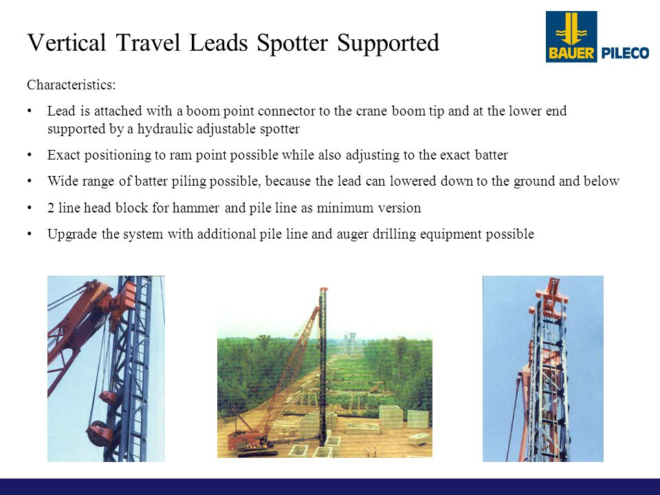 Vertical Travel Leads Spotter Supported
