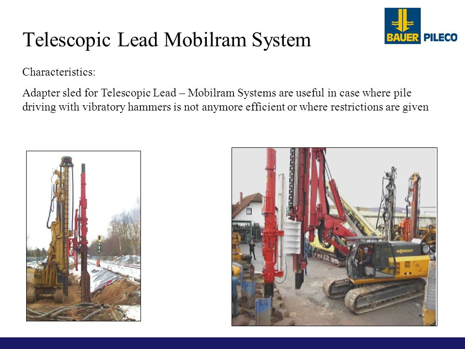 Telescopic Lead Mobilram System
