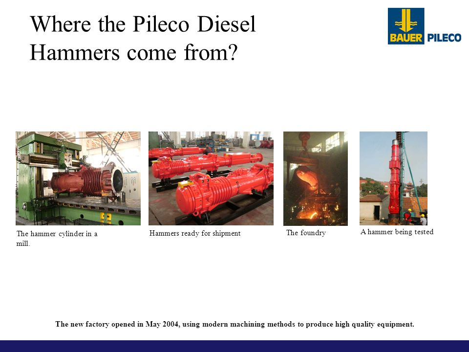 Where the Pileco Diesel Hammers come from