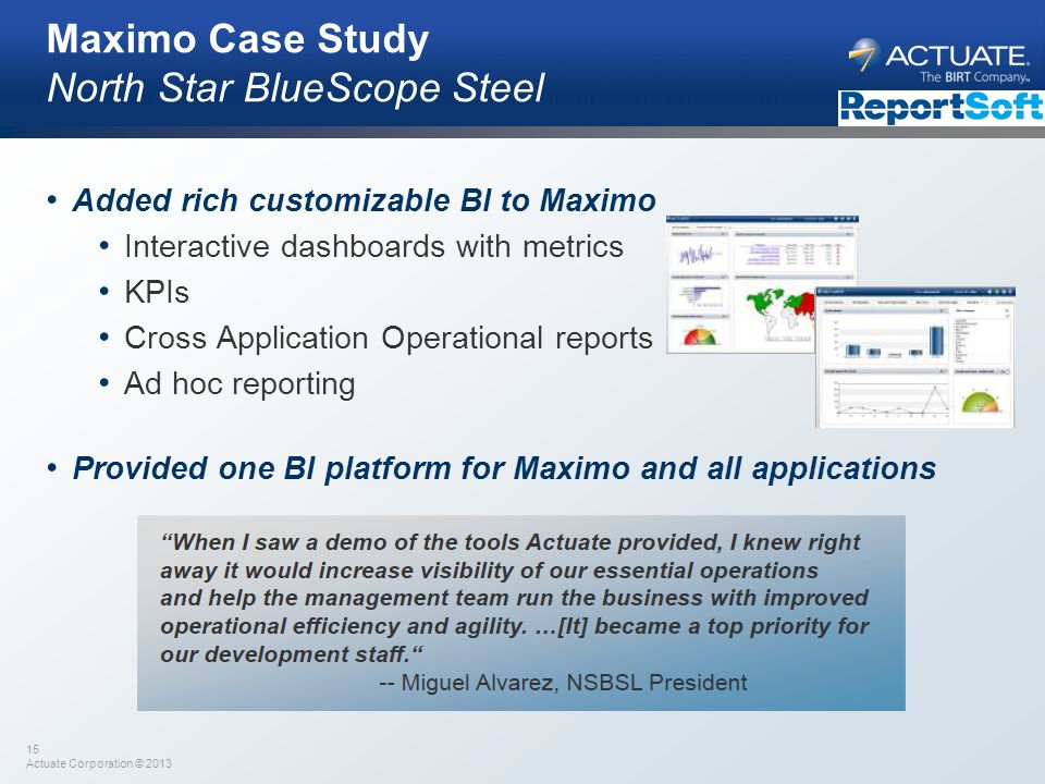 Maximo Case Study North Star BlueScope Steel