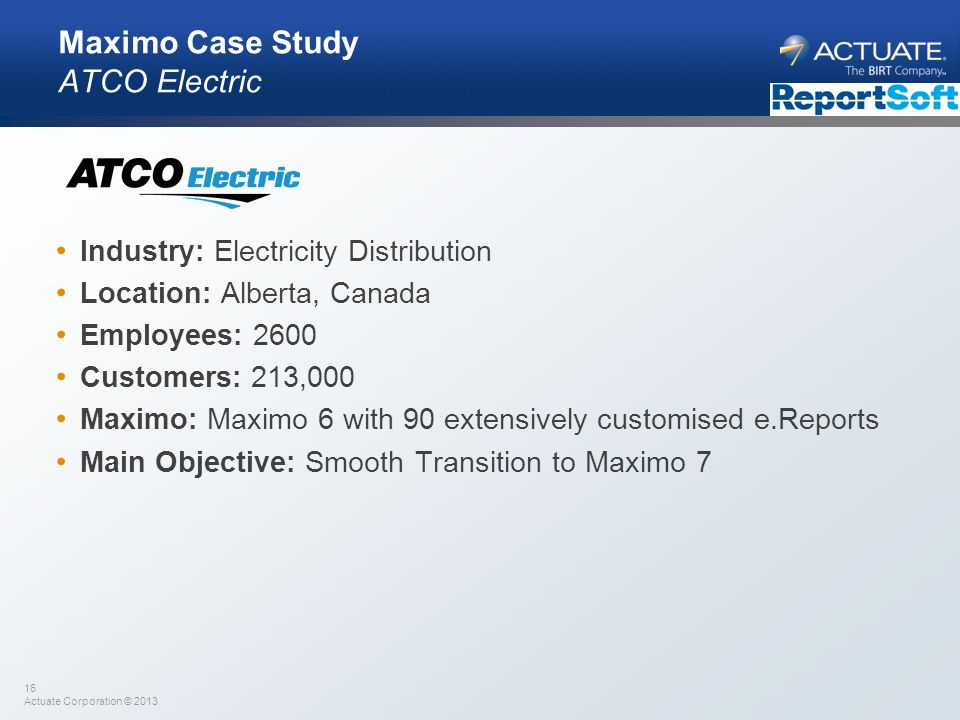 Maximo Case Study ATCO Electric