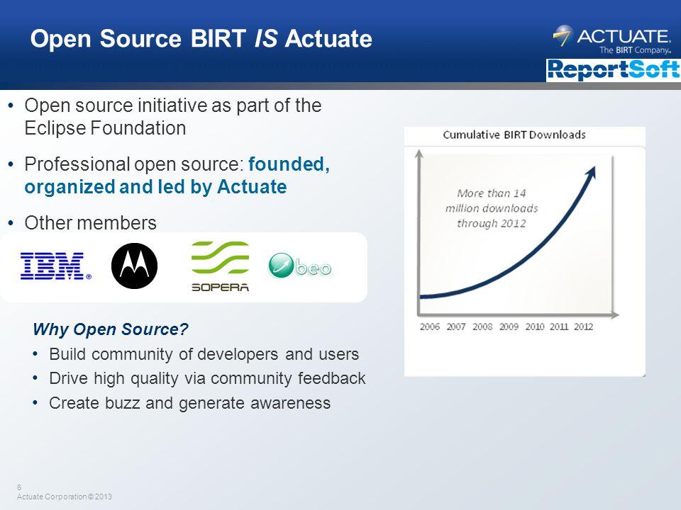 Open Source BIRT IS Actuate