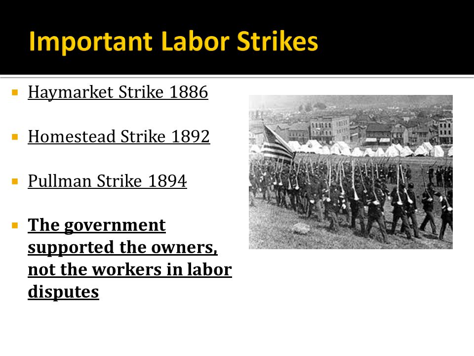 Important Labor Strikes