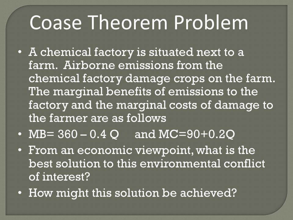 Coase Theorem Problem