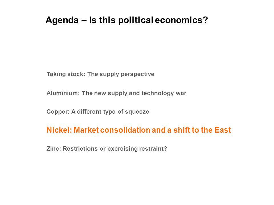 Agenda – Is this political economics