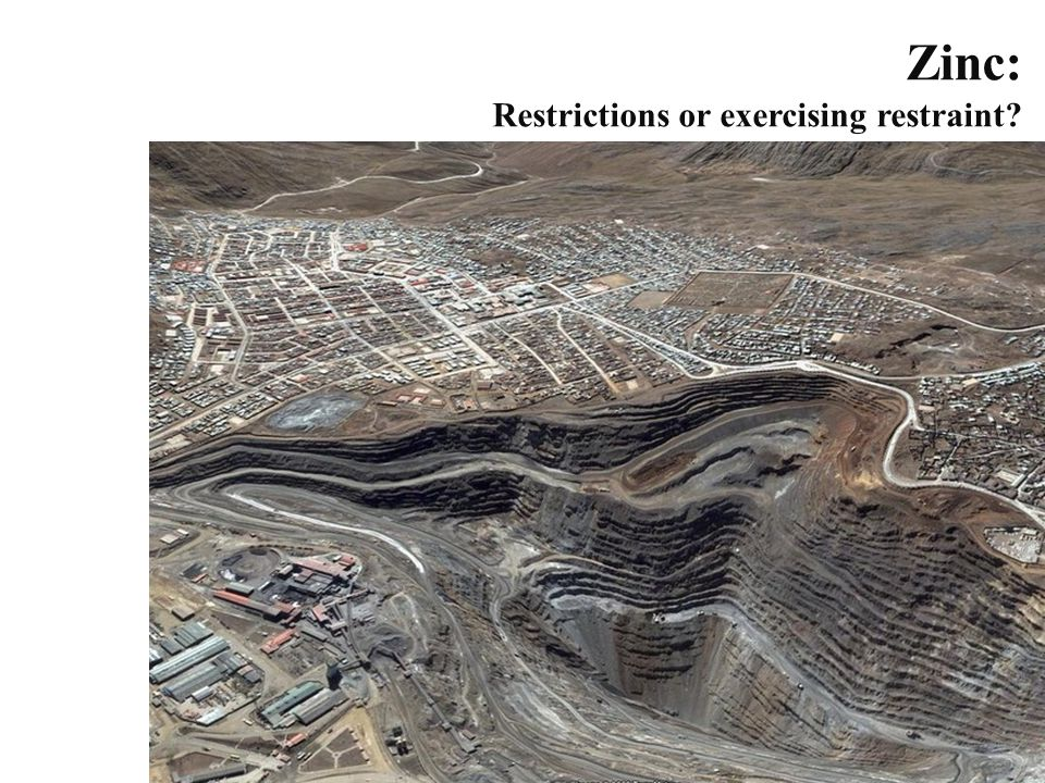 Zinc: Restrictions or exercising restraint