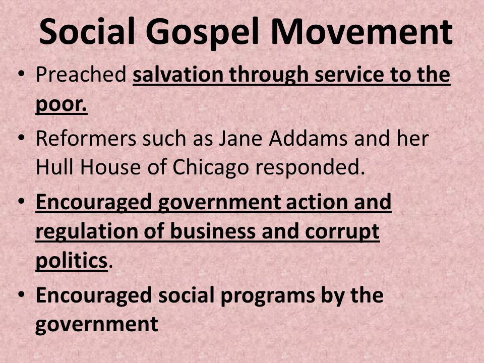 Social Gospel Movement