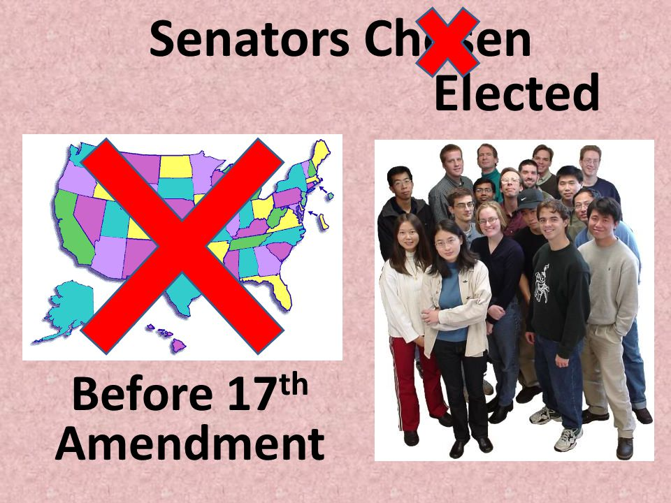 Senators Chosen Elected