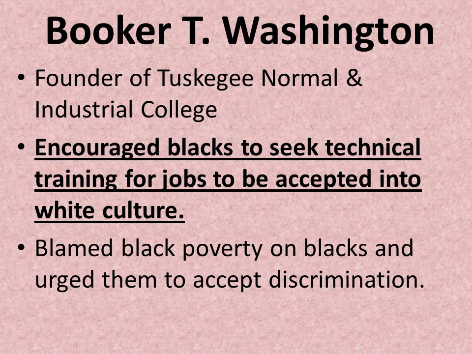 Booker T. Washington Founder of Tuskegee Normal & Industrial College