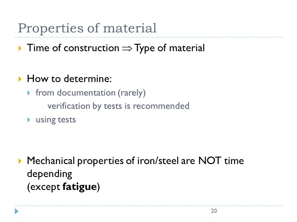 Properties of material
