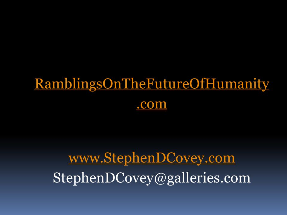 RamblingsOnTheFutureOfHumanity