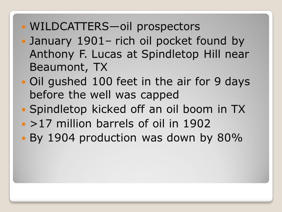 WILDCATTERS—oil prospectors