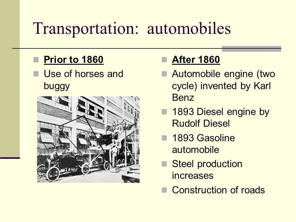 Transportation: automobiles