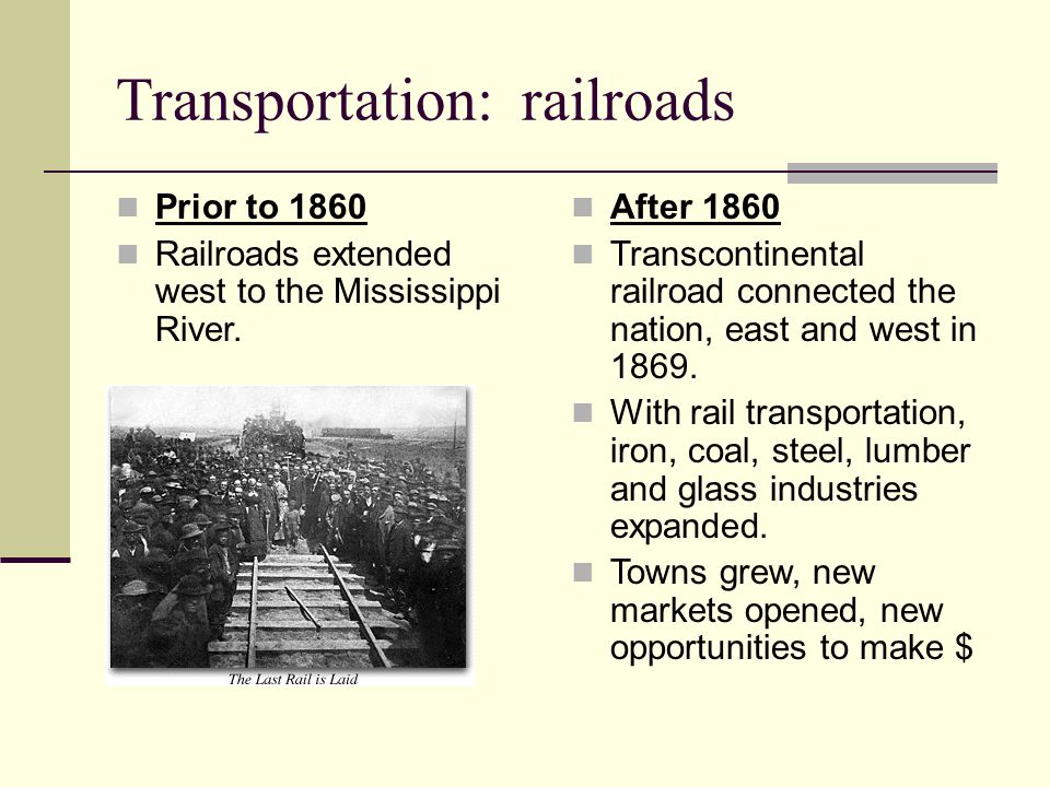 Transportation: railroads