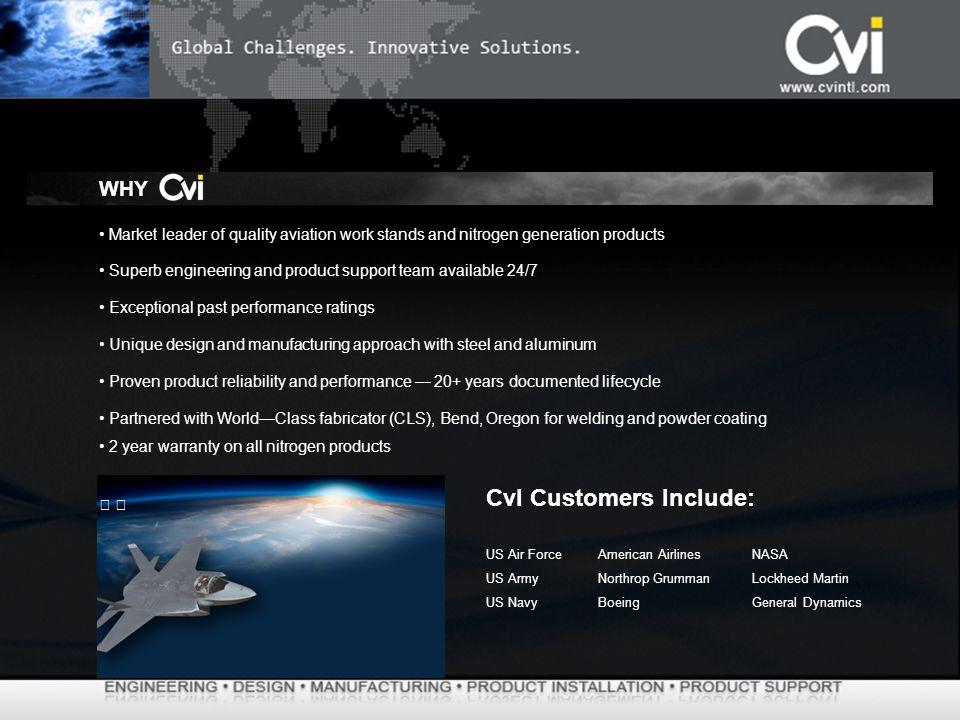 CvI Customers Include: