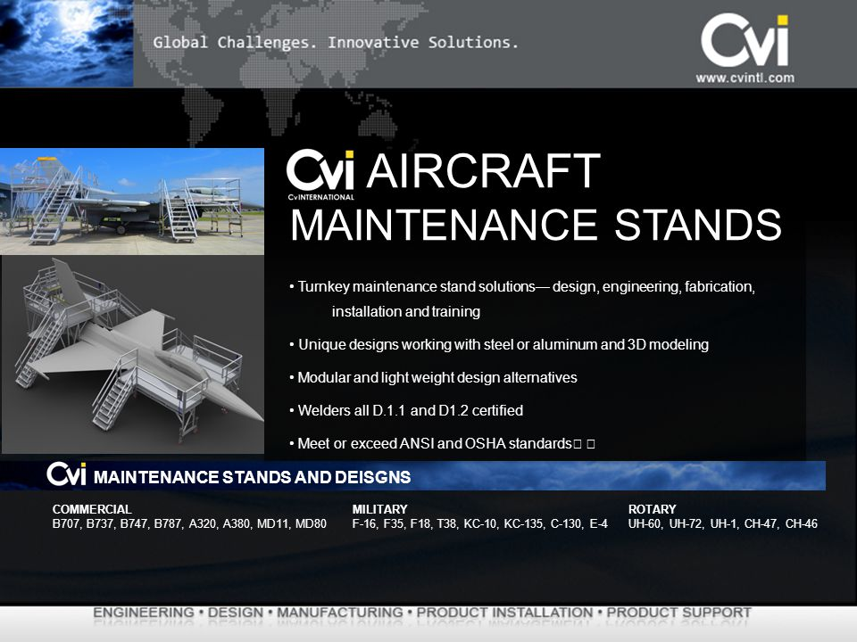 AIRCRAFT MAINTENANCE STANDS MAINTENANCE STANDS AND DEISGNS