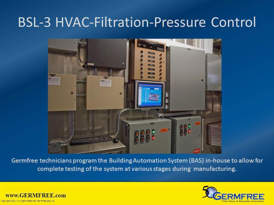 BSL-3 HVAC-Filtration-Pressure Control