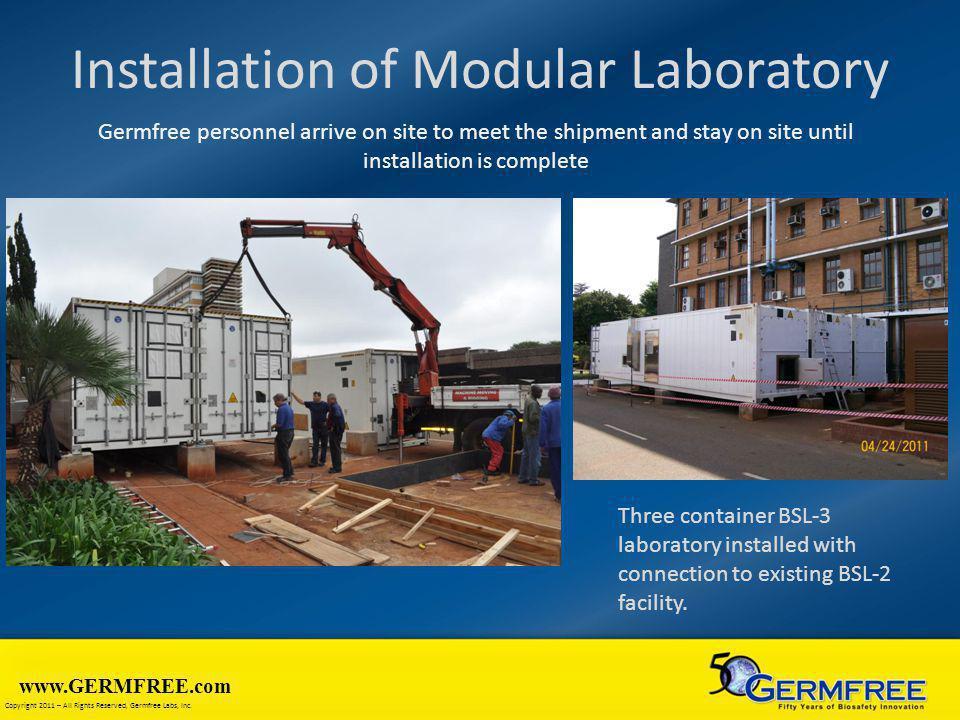 Installation of Modular Laboratory