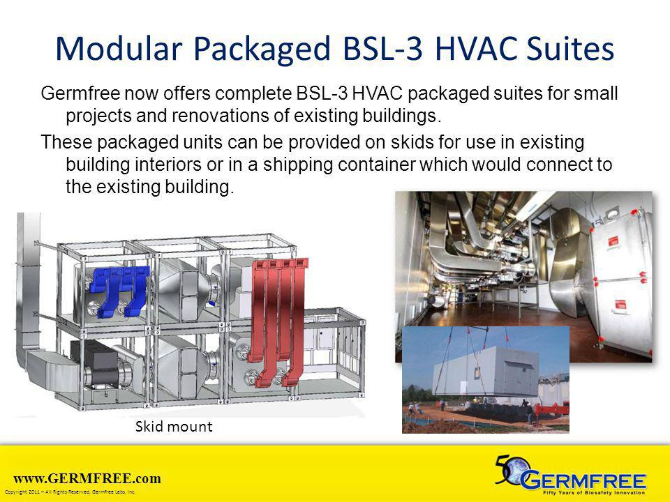 Modular Packaged BSL-3 HVAC Suites