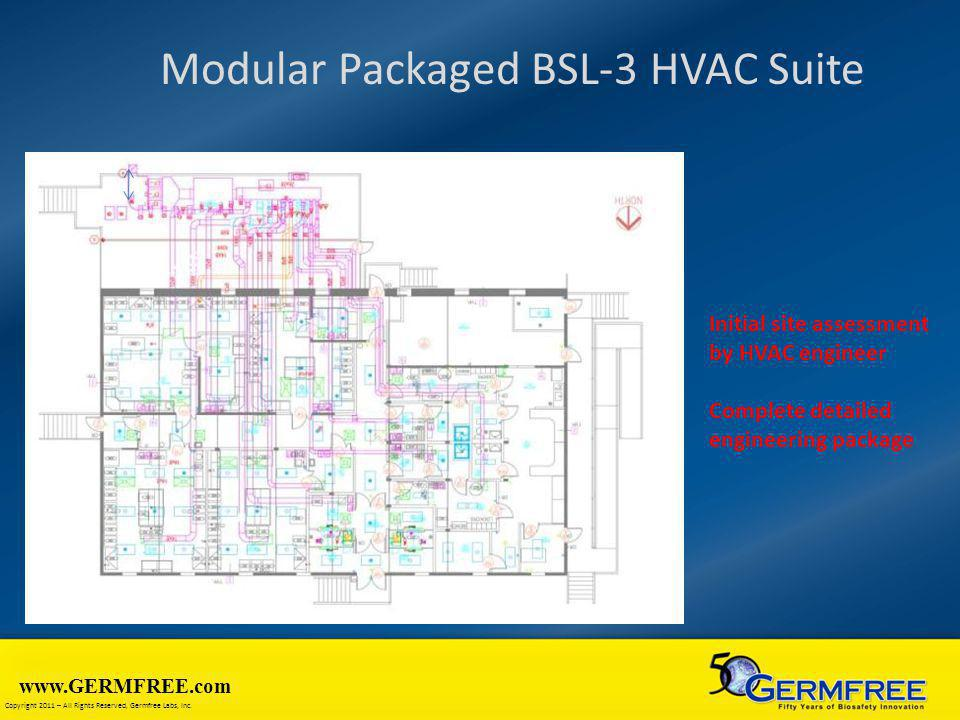 Modular Packaged BSL-3 HVAC Suite