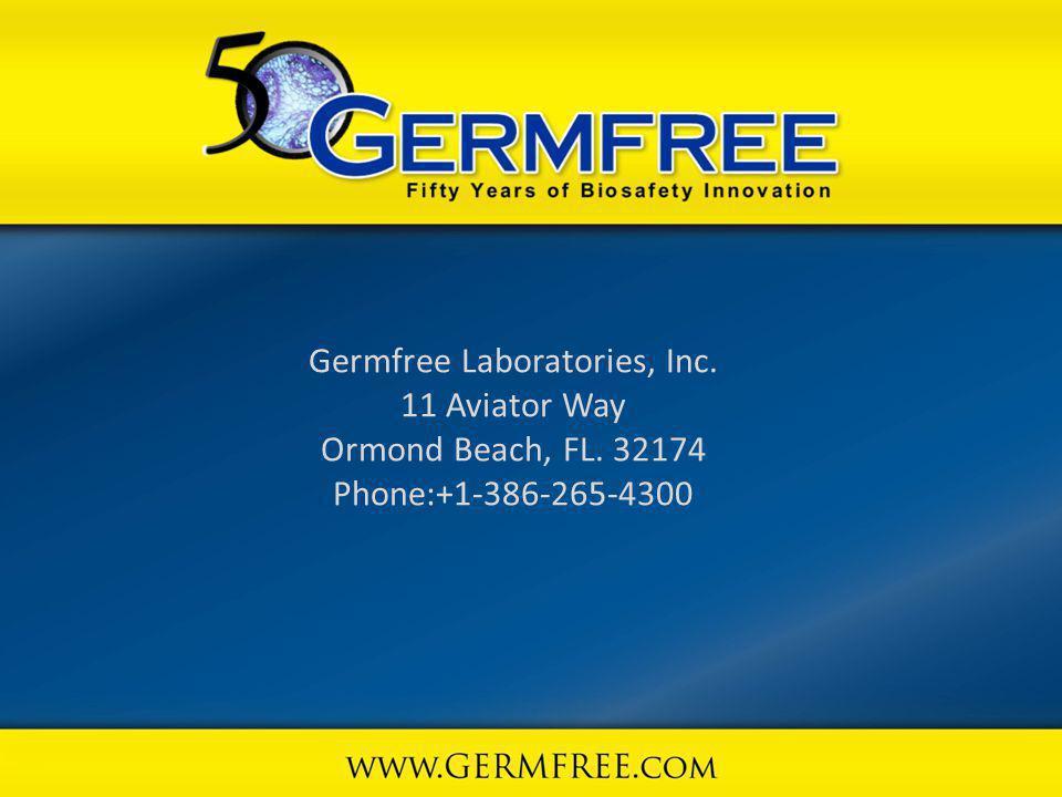 Germfree Laboratories, Inc. 11 Aviator Way Ormond Beach, FL