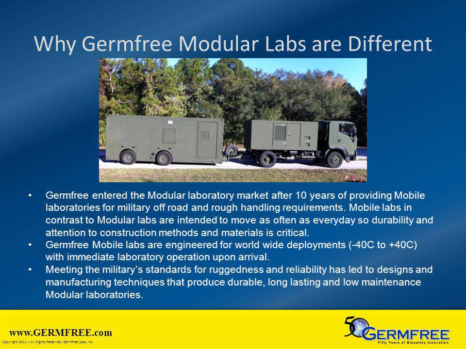 Why Germfree Modular Labs are Different