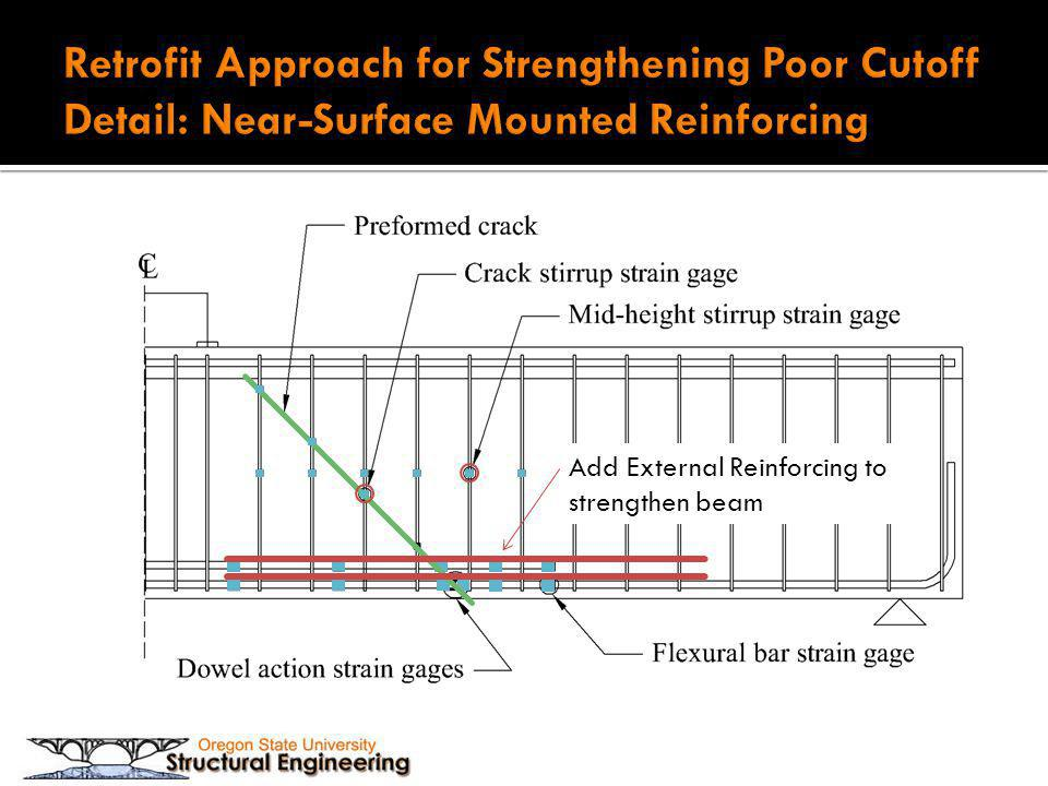 Retrofit Approach for Strengthening Poor Cutoff Detail: Near-Surface Mounted Reinforcing