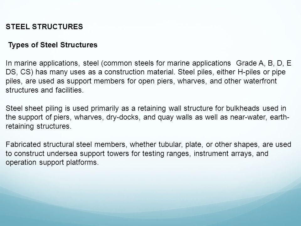 Types of Steel Structures