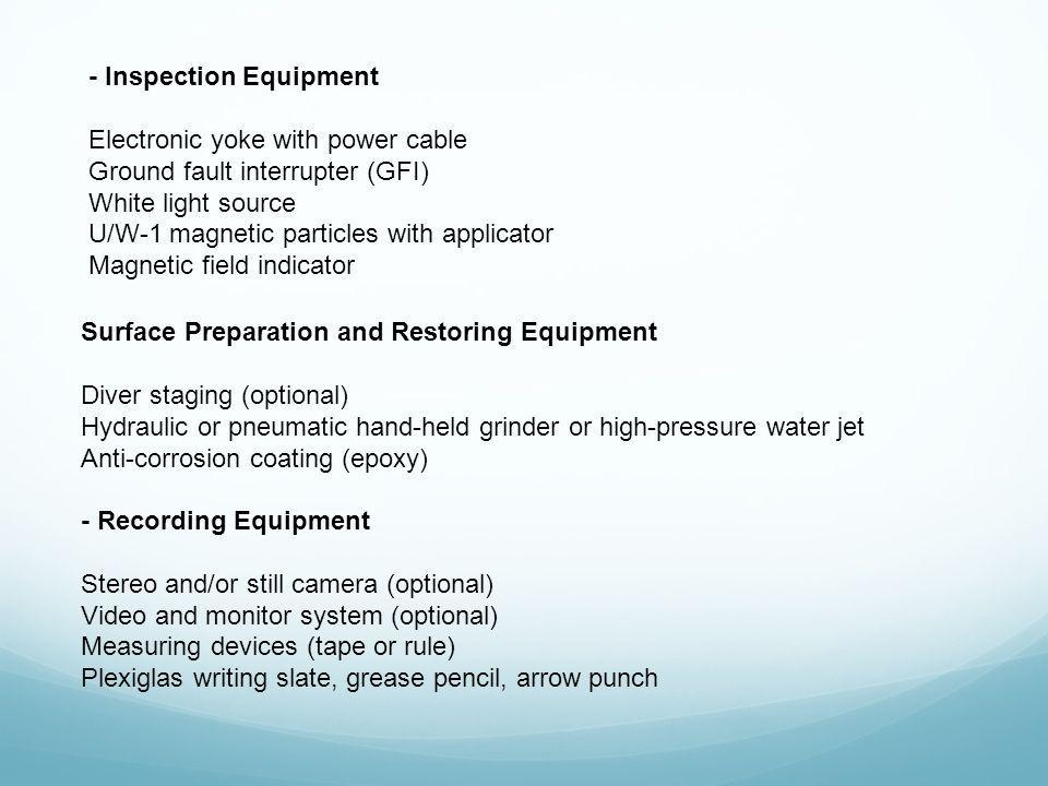 - Inspection Equipment
