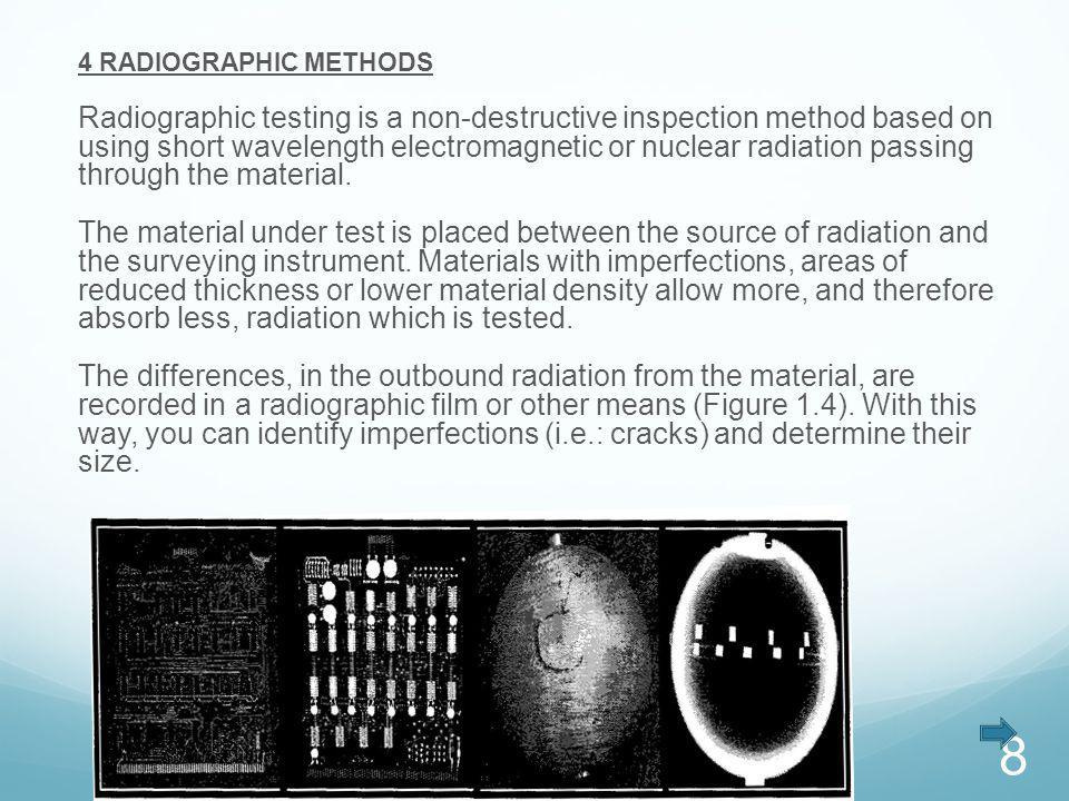 4 RADIOGRAPHIC METHODS