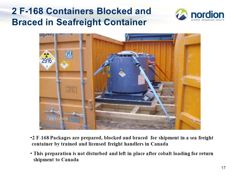 2 F-168 Containers Blocked and Braced in Seafreight Container
