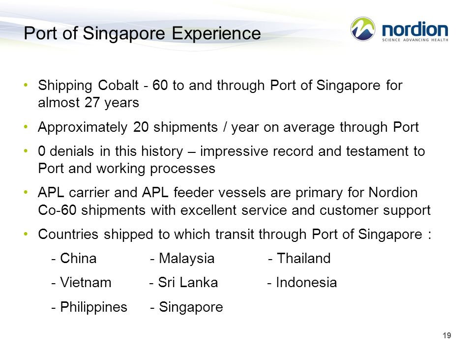 Port of Singapore Experience