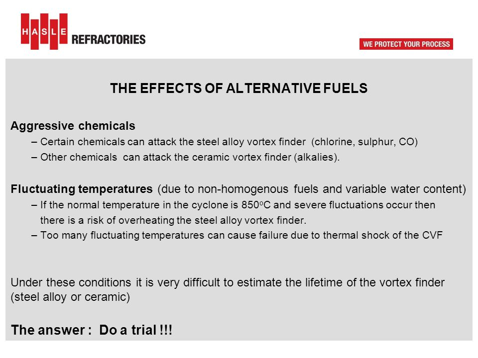 THE EFFECTS OF ALTERNATIVE FUELS