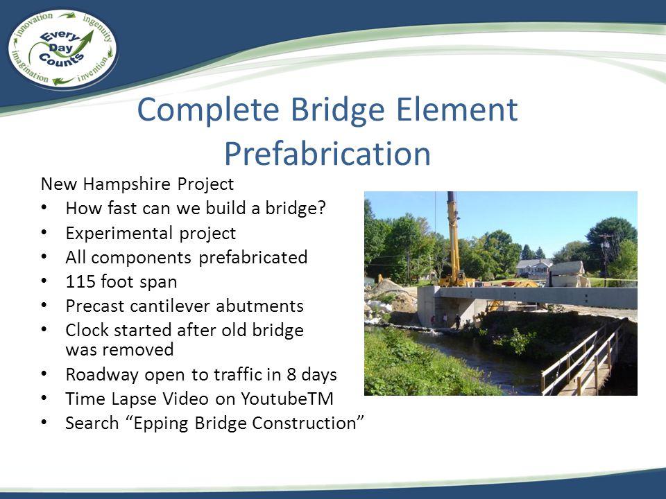 Complete Bridge Element Prefabrication