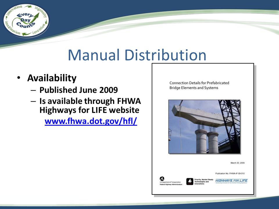 Manual Distribution Availability Published June 2009