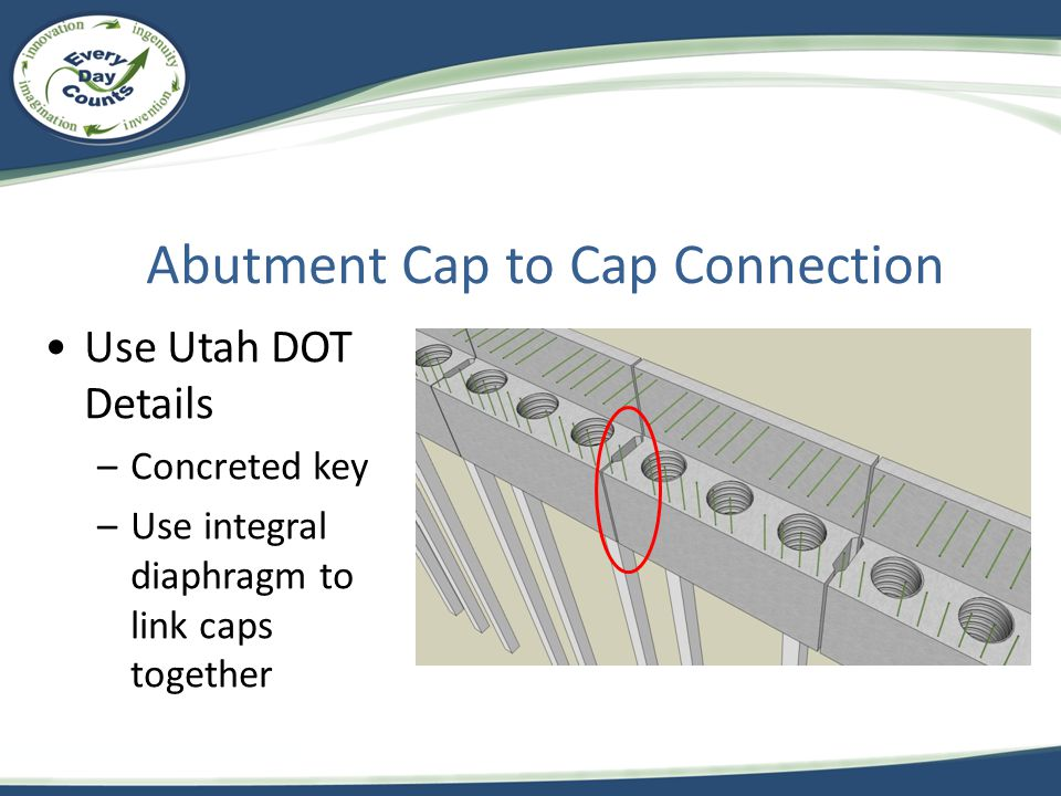 Abutment Cap to Cap Connection