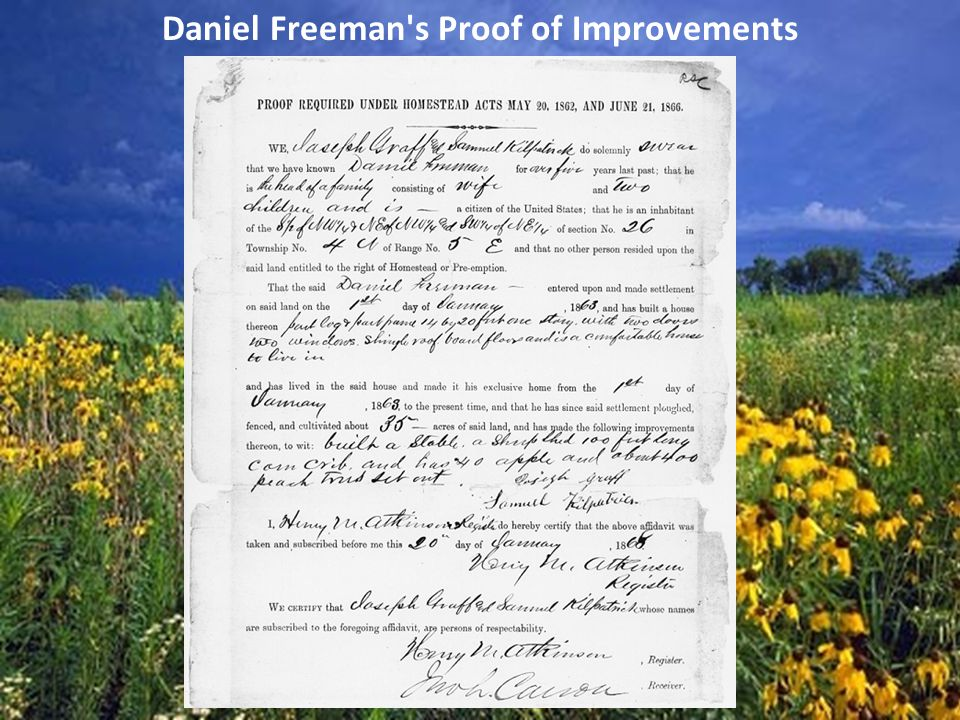 Daniel Freeman s Proof of Improvements