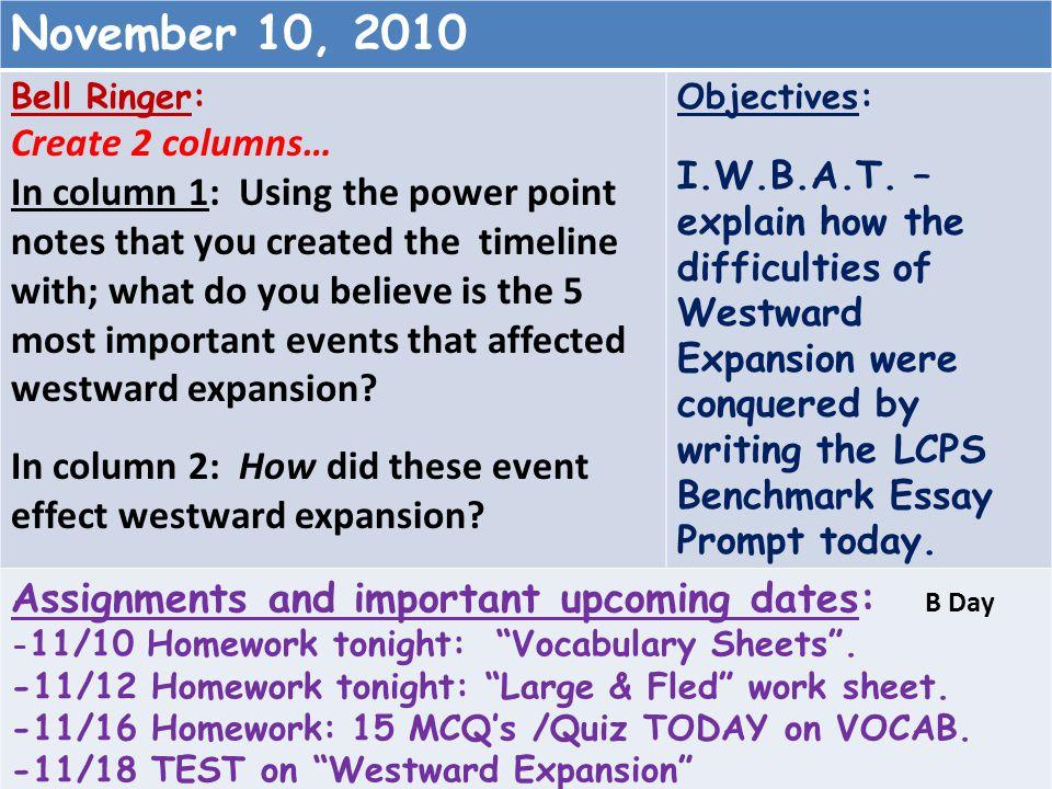 November 10, 2010 Create 2 columns…