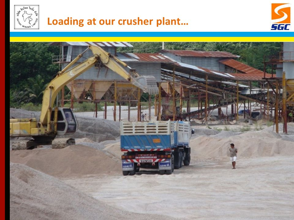 Loading at our crusher plant…