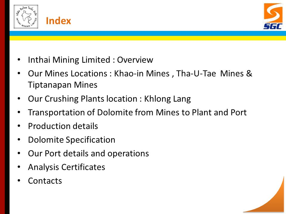 Index Inthai Mining Limited : Overview