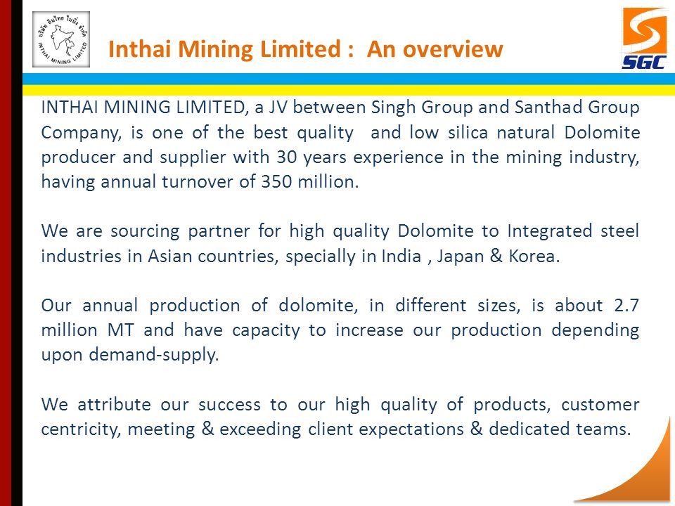 Inthai Mining Limited : An overview