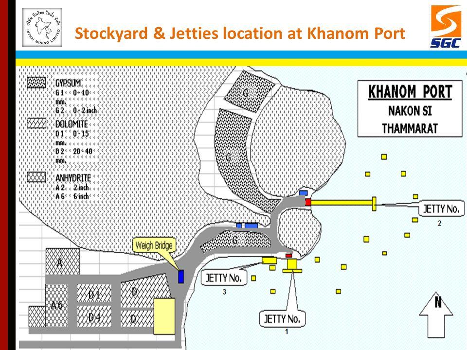 Stockyard & Jetties location at Khanom Port
